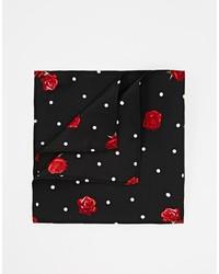 Черный нагрудный платок с цветочным принтом от Asos