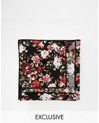 Черный нагрудный платок с цветочным принтом от Reclaimed Vintage