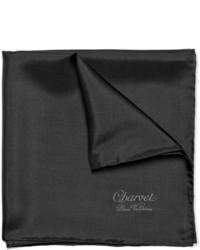 Мужской черный нагрудный платок от Charvet