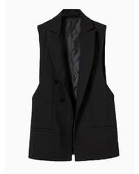 Черный пиджак без рукавов