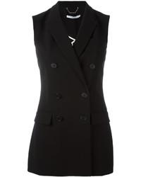 Женский черный пиджак без рукавов от Givenchy