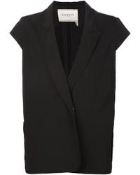 Черный пиджак без рукавов от Lanvin