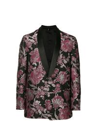 Черный пиджак из парчи