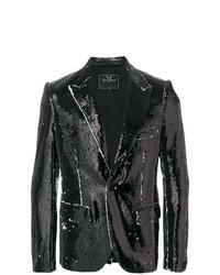 Черный пиджак с пайетками