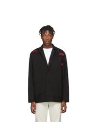 Мужской черный пиджак от 424