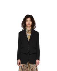 Женский черный пиджак от Burberry