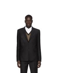 Мужской черный пиджак от Fendi