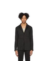 Мужской черный пиджак от Issey Miyake Men