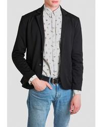 Мужской черный пиджак от Mark Formelle