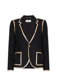 Женский черный пиджак от Saint Laurent