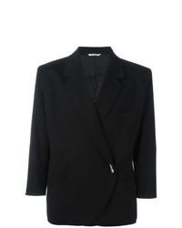 Женский черный пиджак от Versace Vintage