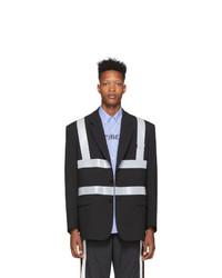 Мужской черный пиджак от Vetements