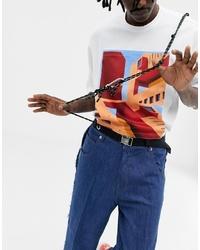 Мужской черный плетеный ремень от ASOS DESIGN
