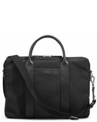Черный портфель из плотной ткани