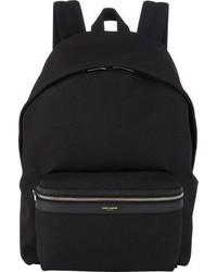 Черный рюкзак из плотной ткани