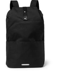 Мужской черный рюкзак из плотной ткани