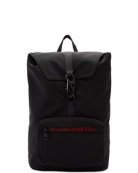 Мужской черный рюкзак из плотной ткани от Alexander McQueen
