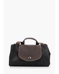 Женский черный рюкзак из плотной ткани от Antan