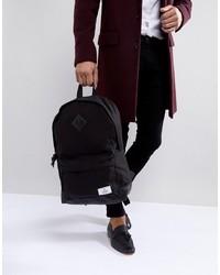 Мужской черный рюкзак из плотной ткани от ASOS DESIGN