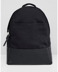 Женский черный рюкзак из плотной ткани от ASOS DESIGN