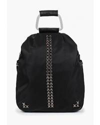 Женский черный рюкзак из плотной ткани от Baggini