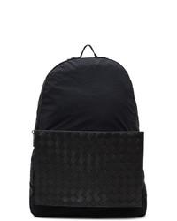 Мужской черный рюкзак из плотной ткани от Bottega Veneta