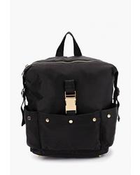 Женский черный рюкзак из плотной ткани от Code