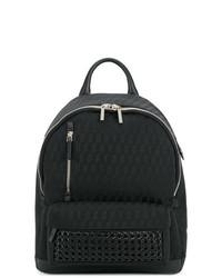 Мужской черный рюкзак из плотной ткани от Corto Moltedo