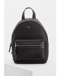Женский черный рюкзак из плотной ткани от DKNY
