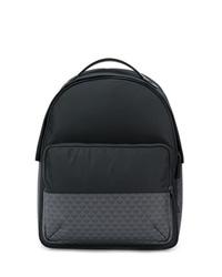 Мужской черный рюкзак из плотной ткани от Emporio Armani