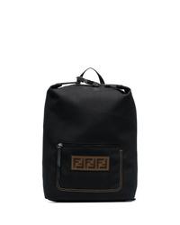 Мужской черный рюкзак из плотной ткани от Fendi