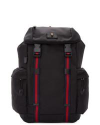 Мужской черный рюкзак из плотной ткани от Gucci