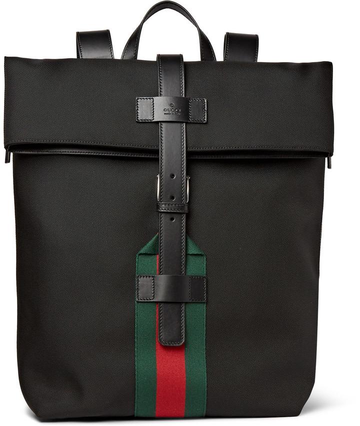 ... Мужской черный рюкзак из плотной ткани от Gucci ... 57bae722333e7