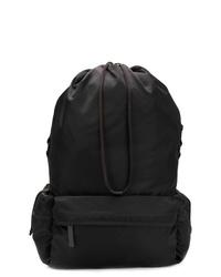 Мужской черный рюкзак из плотной ткани от Jil Sander