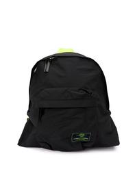 Мужской черный рюкзак из плотной ткани от Juun.J