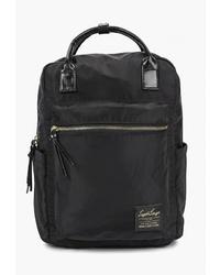 Женский черный рюкзак из плотной ткани от Legato Largo