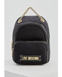 Женский черный рюкзак из плотной ткани от Love Moschino