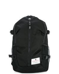Мужской черный рюкзак из плотной ткани от Makavelic