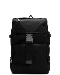 Мужской черный рюкзак из плотной ткани от Moncler