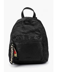 Женский черный рюкзак из плотной ткани от Pola