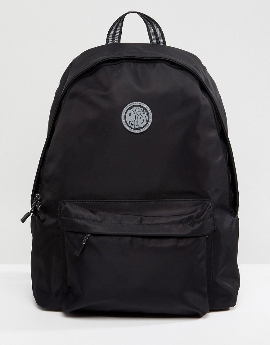 Мужской черный рюкзак из плотной ткани от Pretty Green