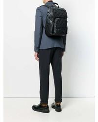 Мужской черный рюкзак из плотной ткани от Prada