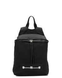 Мужской черный рюкзак из плотной ткани от Rick Owens DRKSHDW