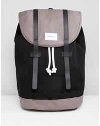 Мужской черный рюкзак из плотной ткани от SANDQVIST