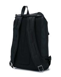 Мужской черный рюкзак из плотной ткани от Versus