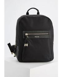 Женский черный рюкзак из плотной ткани от Tous