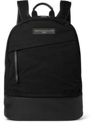 Мужской черный рюкзак из плотной ткани от WANT Les Essentiels