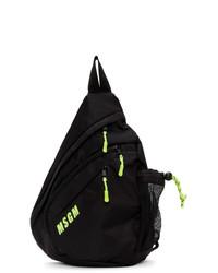 Мужской черный рюкзак от MSGM