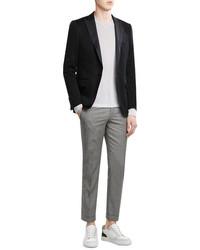 Черный сатиновый пиджак