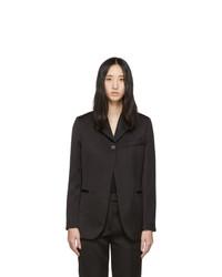 Женский черный сатиновый пиджак от 3.1 Phillip Lim